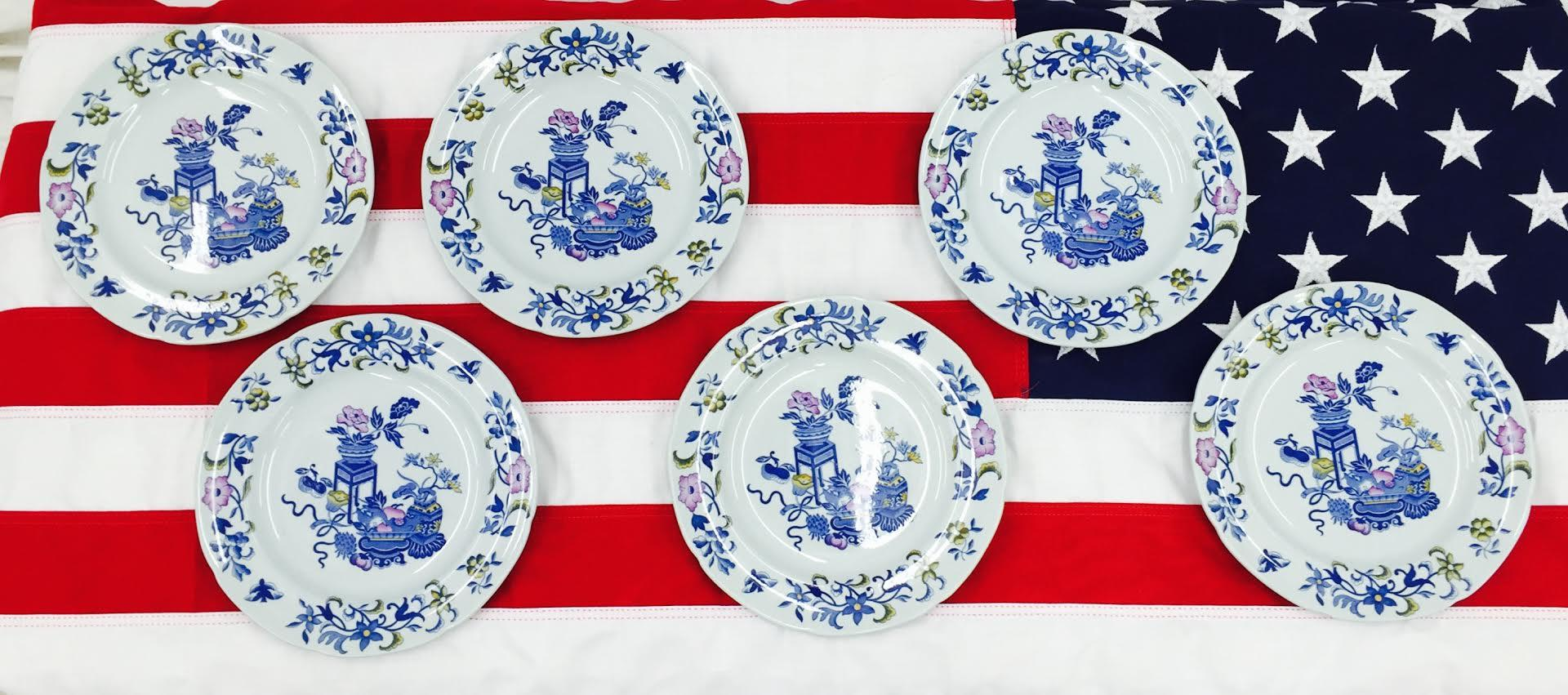Vintage English Spode Blue Bowpot Porcelain Plates 6  : vintage english spode blue bowpot porcelain plates 6 8358aspectfitampwidth640ampheight640 from www.chairish.com size 640 x 640 jpeg 55kB