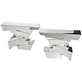 Sirmos Style Rock Mirrored Console Tables, in the Manner of Emilio Terry- A Pair