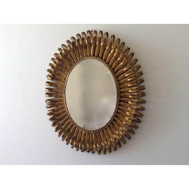Italian Gilt Hollywood Regency Oval Mirror Attr. To S. Salvatore - Image 3 of 7
