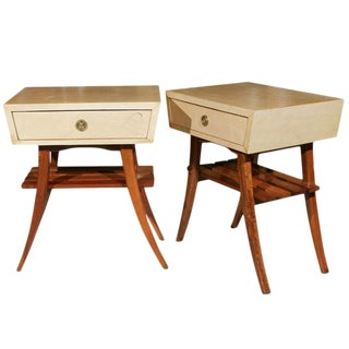 Art Deco Parchment Stands - A Pair