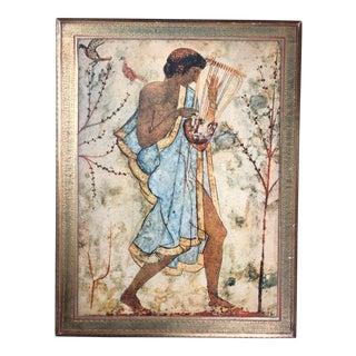 Vintage Florentine Etruscan Art Wall Hanging