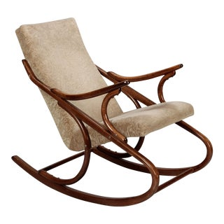 Ton Czech Mid-Century Bent Wood Rocking Chair