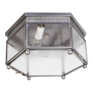 Hexagonal Flush Glass Mount Fixture