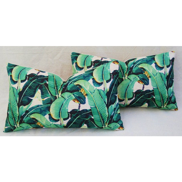 Dorothy Draper-Style Banana Leaf Pillows - A Pair - Image 7 of 11