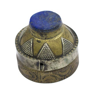 Brass Box with Inlaid Lapis Lazuli