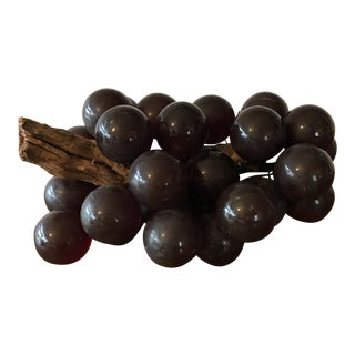 Vintage Brown Resin Grape Cluster