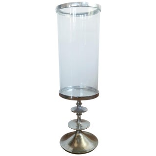Glass Hurricane Candle Stand