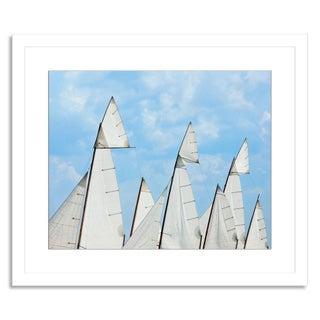 """Log Canoe Sailing Regatta"" Photograph by G. Pease"