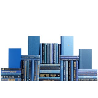 Modern Blue Book Wall - Set of 50