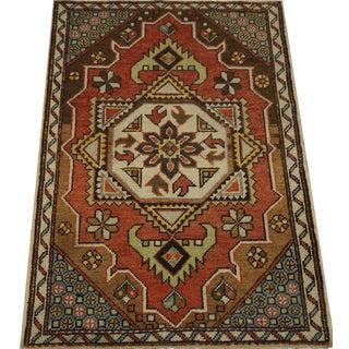 Vintage Turkish Oushak Rug - 4′ × 5′9″