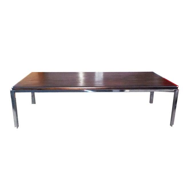 Stow Davis Vintage Wood Chrome Coffee Table Chairish