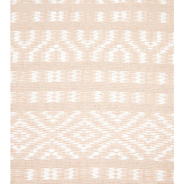 Blush Pink & White Handwoven Chiapas Throw - Image 2 of 4