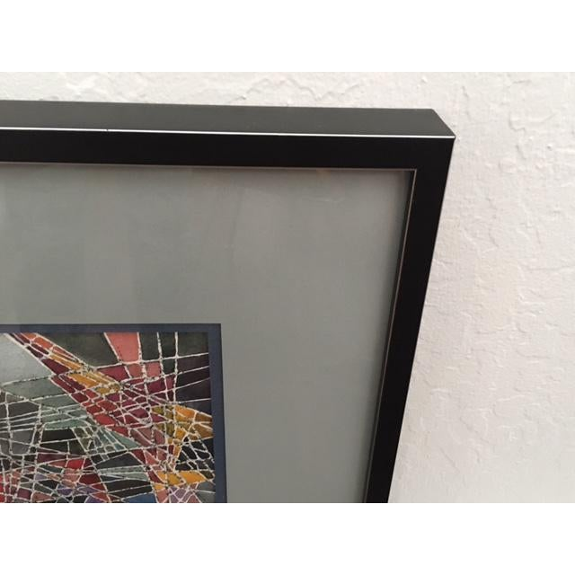 Geometric Abstract Watercolor Painting - Image 6 of 9