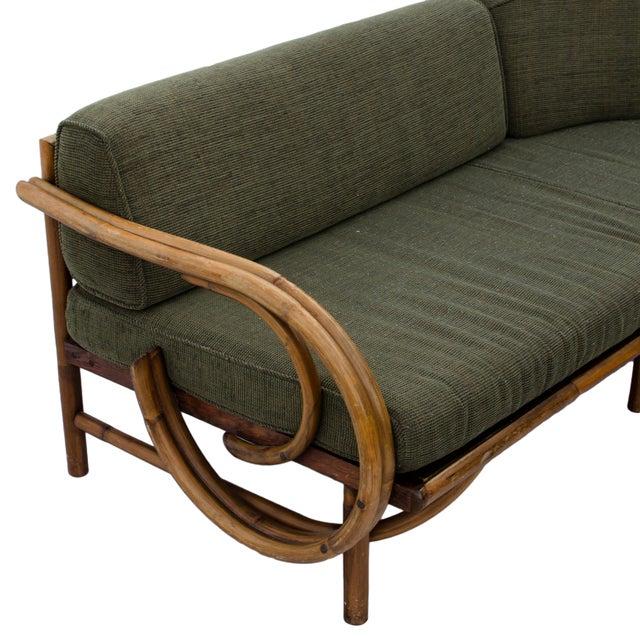 Mid-Century Rattan Sectional Sofa - Image 5 of 11
