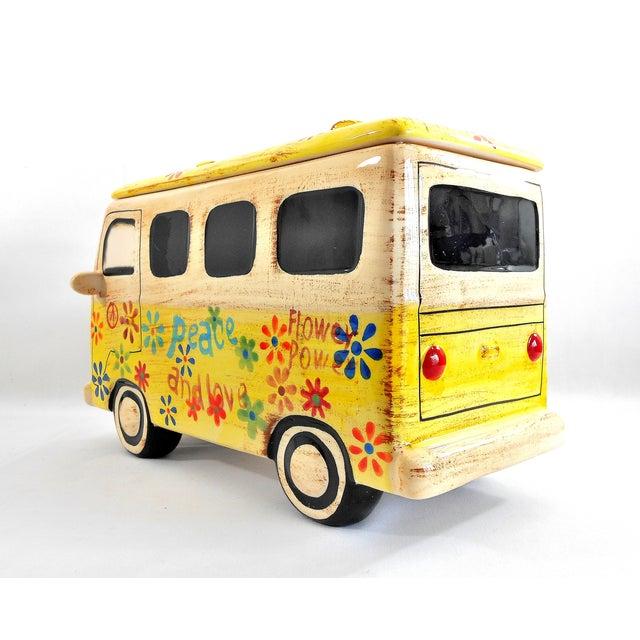 Yellow Hippie Van Ceramic Cookie Jar - Image 7 of 10