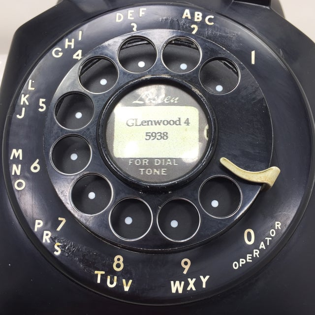Black Western Electric 5302 Rotary Dial Telephone - Image 10 of 11