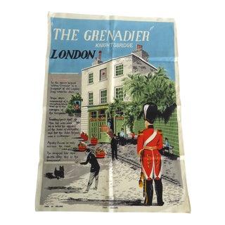 Vintage Knightsbridge London Tea Towel