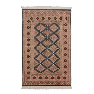 RugsinDallas Hand Knotted Wool & Silk Bokhara Rug - 3′11″ × 6′1″