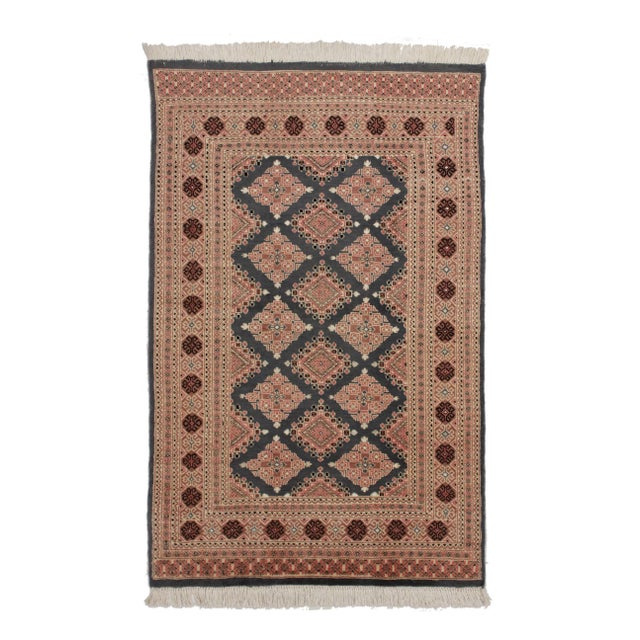 RugsinDallas Hand Knotted Wool & Silk Bokhara Rug - 3′11″ × 6′1″ - Image 1 of 3