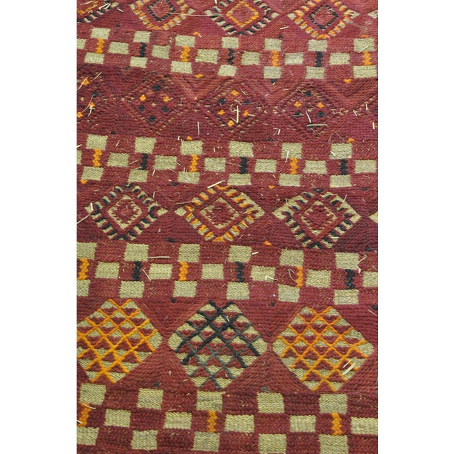 "Vintage Moroccan Wool Straw Rug - 5'10"" x 8'10"" - Image 3 of 4"
