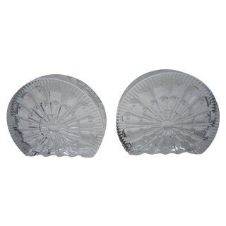 Midcentury Blenko Glass Bookends - Pair