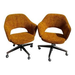 Vintage Eero Saarinen Style Executive Chairs - A Pair