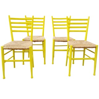 Mid-Century Gio Ponti Style Chairs - Set of 4
