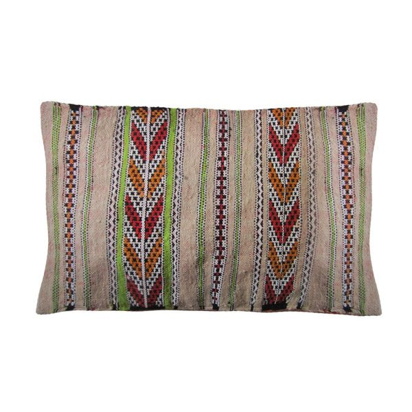 Striped Moroccan Berber Pillow - Image 2 of 3