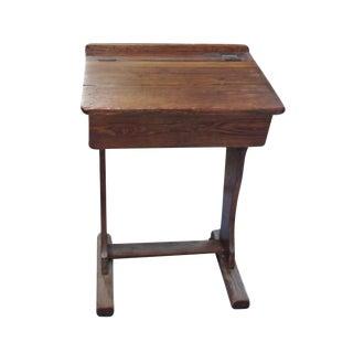 Signed English Oak School Desk