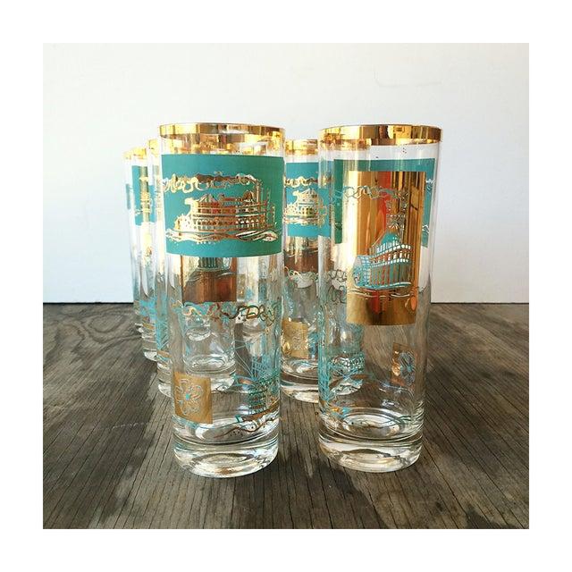 Image of 50s Mid Century Steamboat Highball Glasses - Set/8