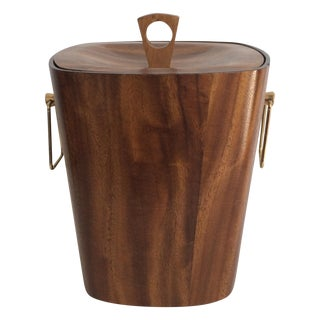 Vintage KMC Wood & Aluminum Ice Bucket