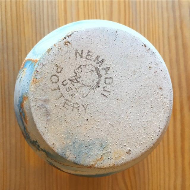 Vintage Blue and Orange Nedmadji Pottery Vase - Image 7 of 11