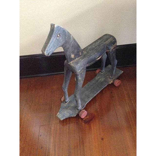 Primitive French Carved Toy Horse - Image 4 of 6