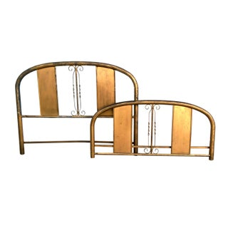 Vintage Gilded Aluminum Full Head & Footboard