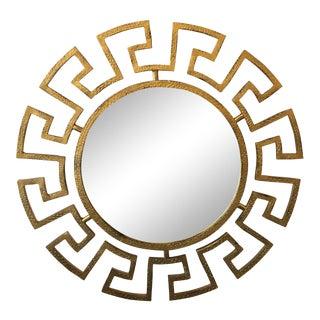 Gold Greek Key Wall Mirror