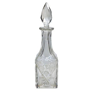 Antique Cut-Glass Perfume Bottle