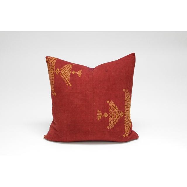Noble Bagh Phulkari Pillow - Image 3 of 3