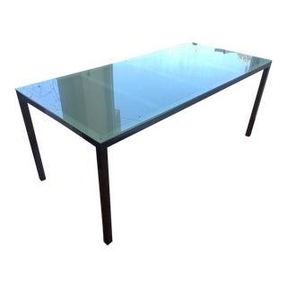 Chrome & Frosted Glass Rectangular Table/Desk