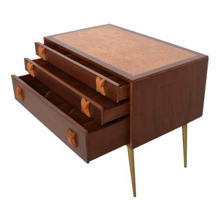 Rare Early Mid Century Modern Widdicomb Chest of Drawers Cork Top