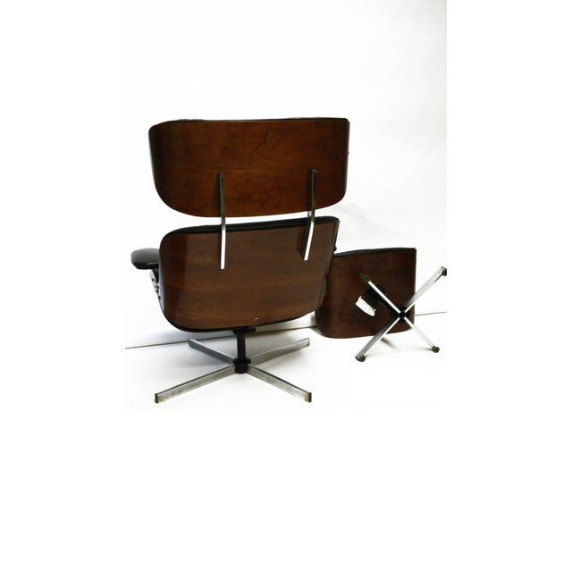 Selig plycraft eames style chair and ottoman set chairish - Selig eames chair ...