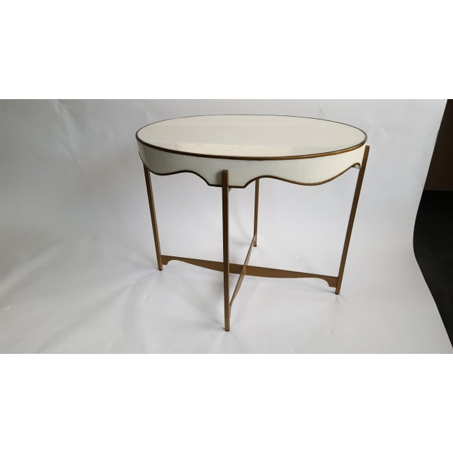 Gabby Trudy Oval Side Table - Image 2 of 5