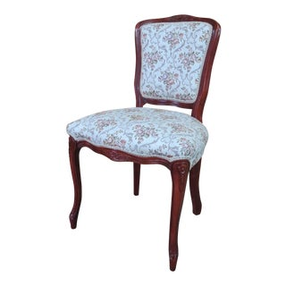 Mahogany French Style Vanity Chair