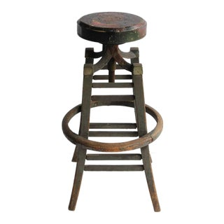 Antique Drafting Stool