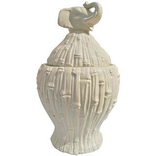 Italian Bamboo Motif Elephant Jar