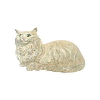 Vintage Ceramic Cat Statue