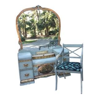 Art Deco Vanity & Chair - A Pair