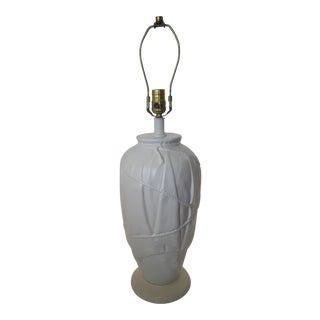 Vintage Frederick Cooper Dorothy Draper Style White Ceramic Draped Lamp