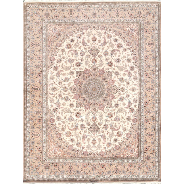 "Pasargad Isfahan Area Rug - 10' X 13' 6"" - Image 1 of 2"