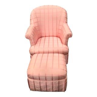 Pottery Barn Custom Reupholstered Chair & Ottoman