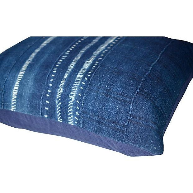 Indigo African Tie Dye Pillow - Image 2 of 3
